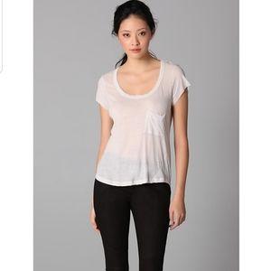 A.L.C Sheer Pocket Tee Shirt Top